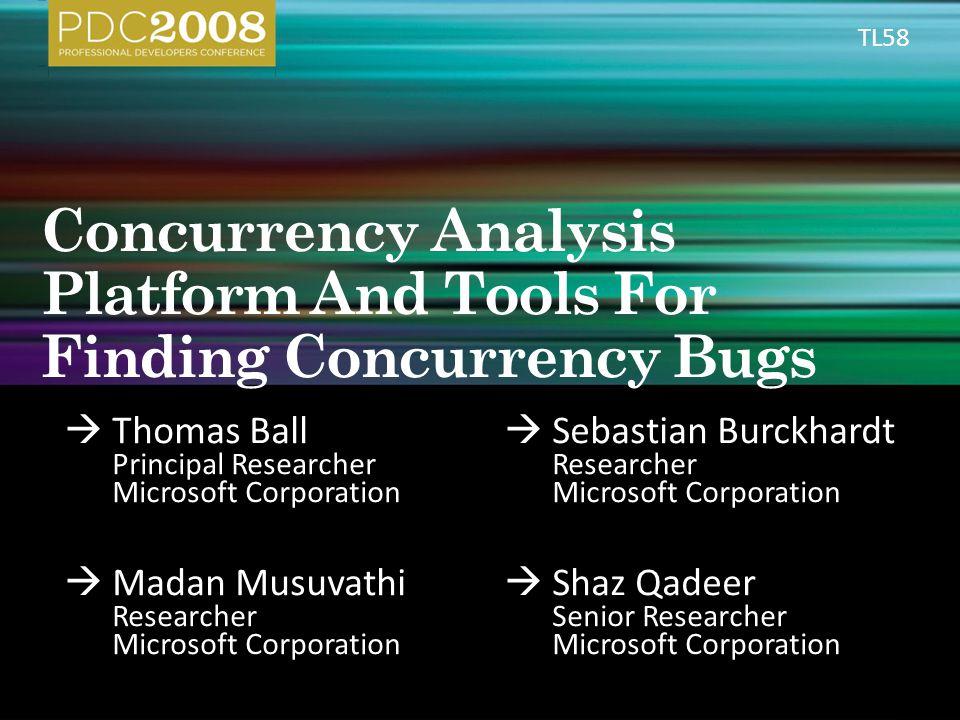  Thomas Ball Principal Researcher Microsoft Corporation  Sebastian Burckhardt Researcher Microsoft Corporation  Madan Musuvathi Researcher Microsof