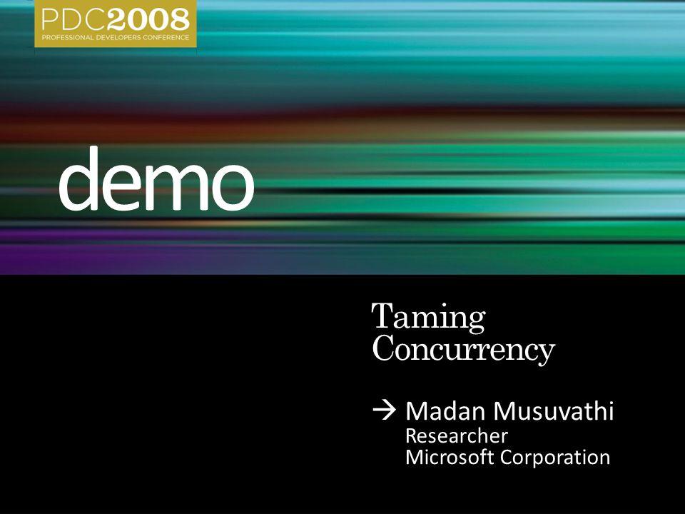  Madan Musuvathi Researcher Microsoft Corporation