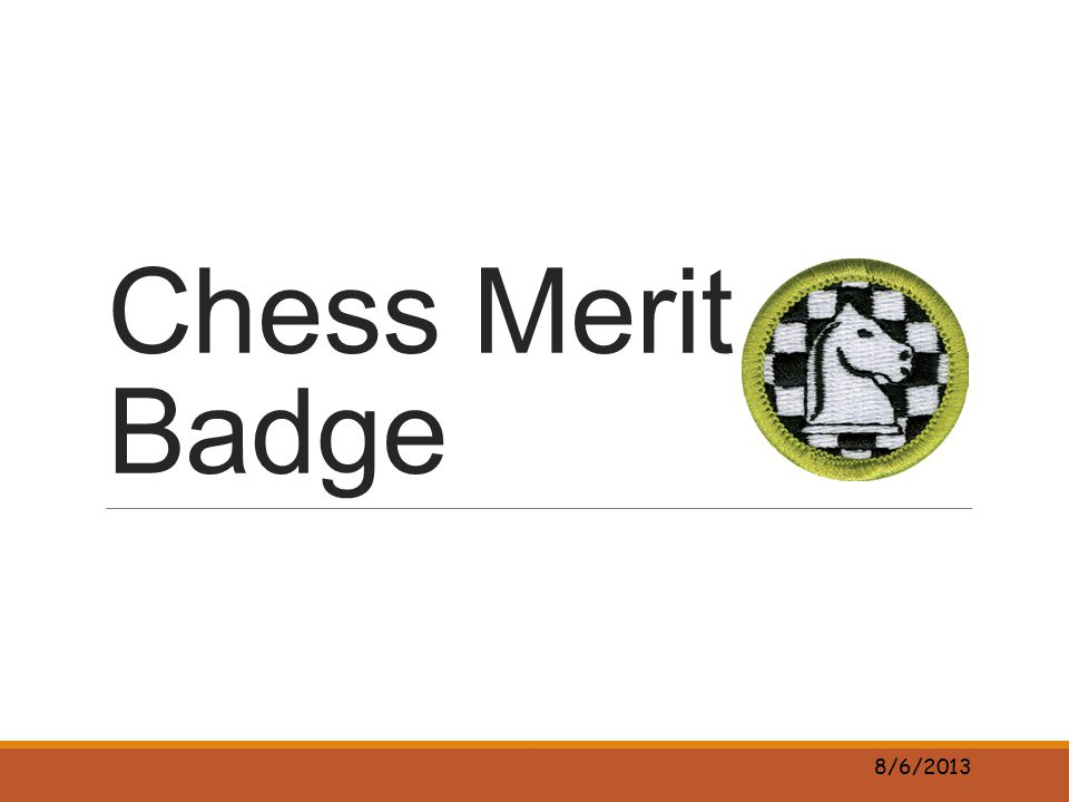 Chess Merit Badge 8/6/2013