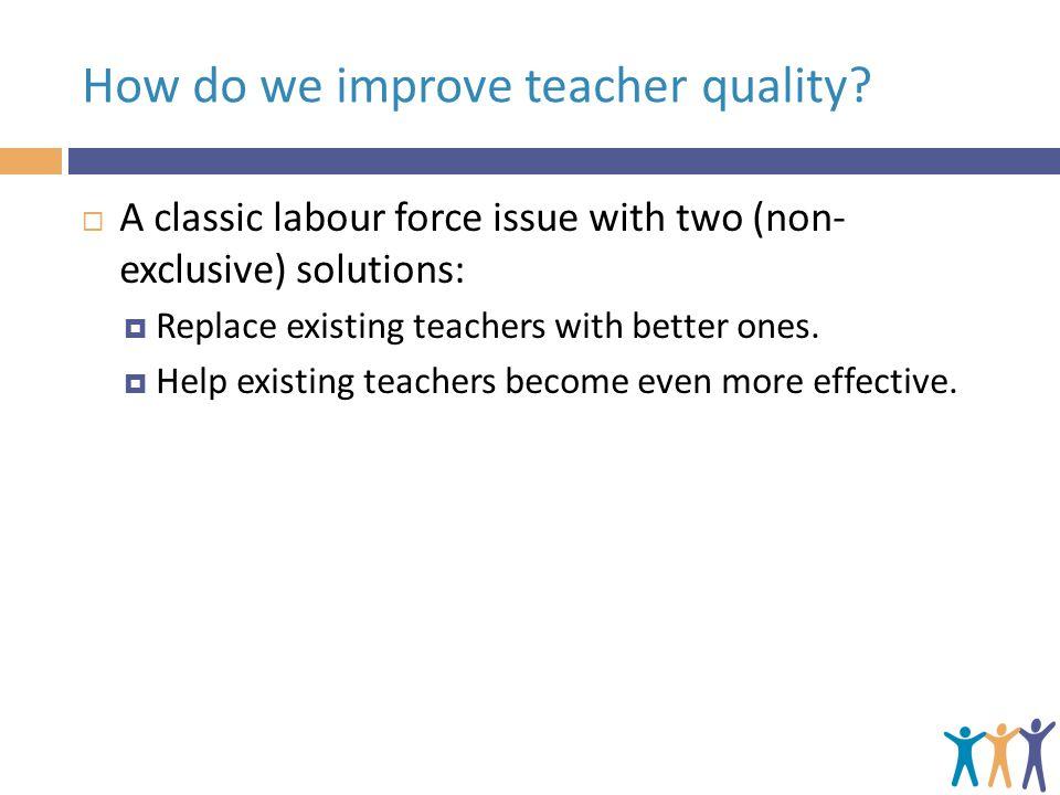 How do we improve teacher quality.