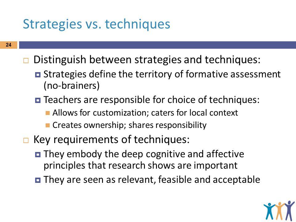Strategies vs.