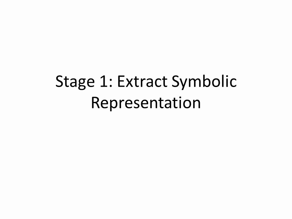 Stage 1: Extract Symbolic Representation