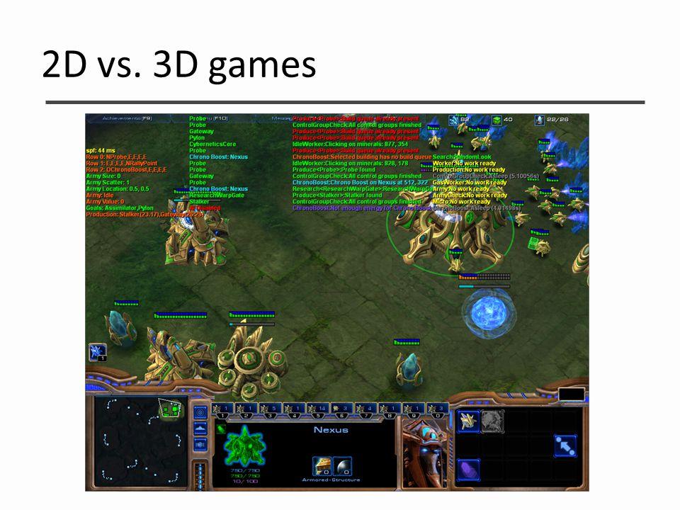 2D vs. 3D games