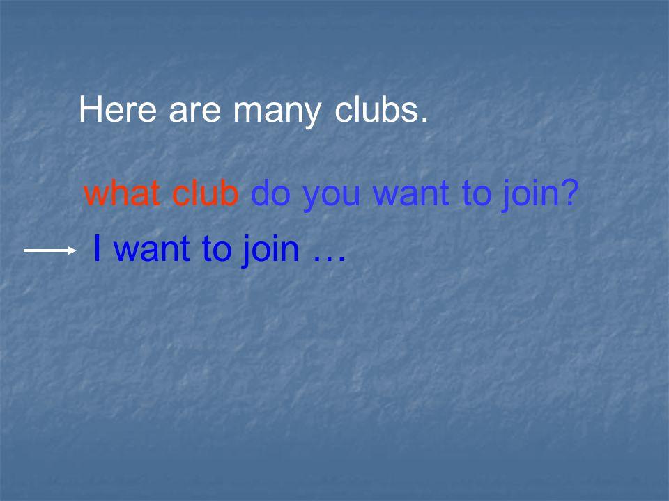 _______ Club _____ Club English Music _________ ClubSwimming _____ ClubChess _____ Club Art clubs