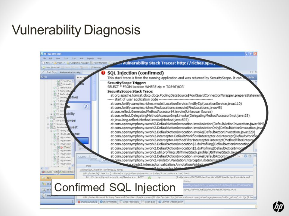 Vulnerability Diagnosis Confirmed SQL Injection