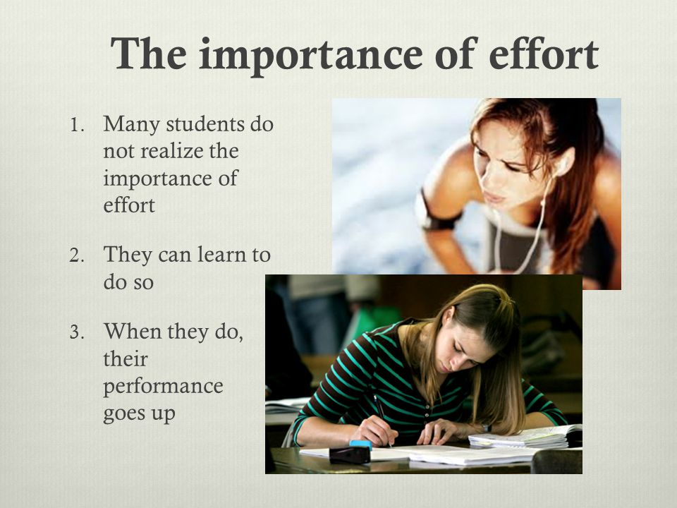 How can we change student beliefs about effort?