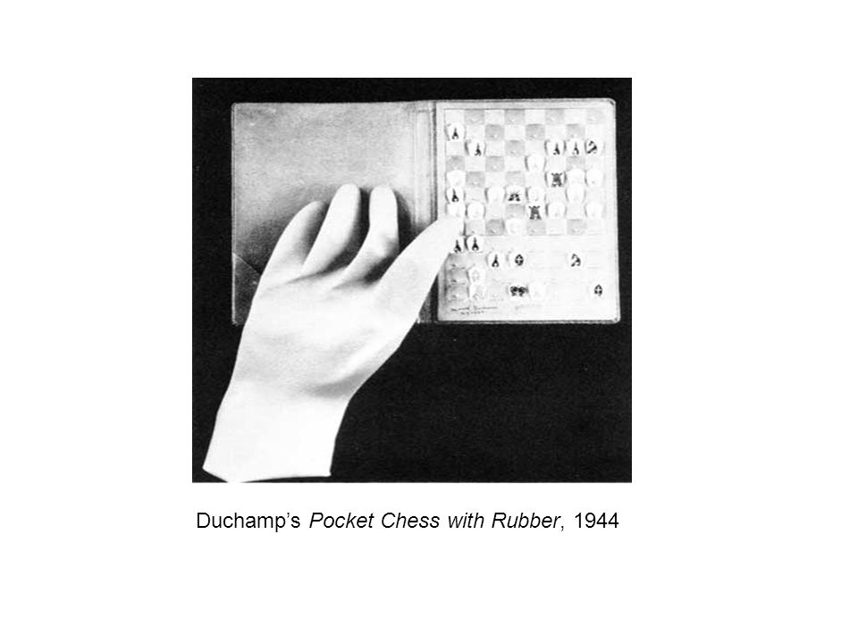Duchamp's Pocket Chess with Rubber, 1944