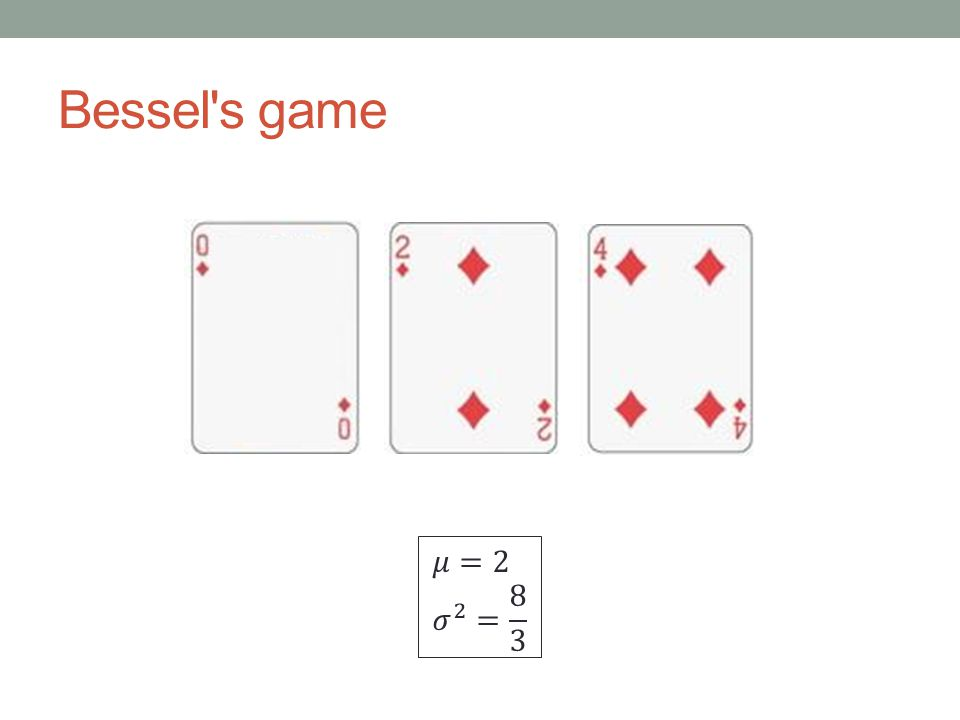 Bessel s game
