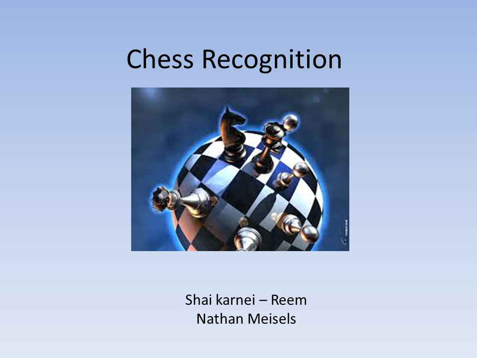 Chess Recognition Shai karnei – Reem Nathan Meisels