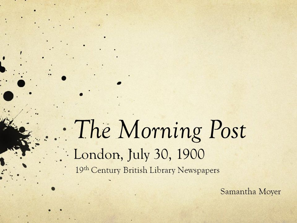 Home of The Morning Post 1907-1937.