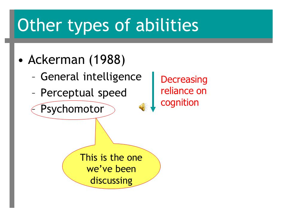 Identifying motor abilities The actual factors Fleishman came up with are listed on pp.