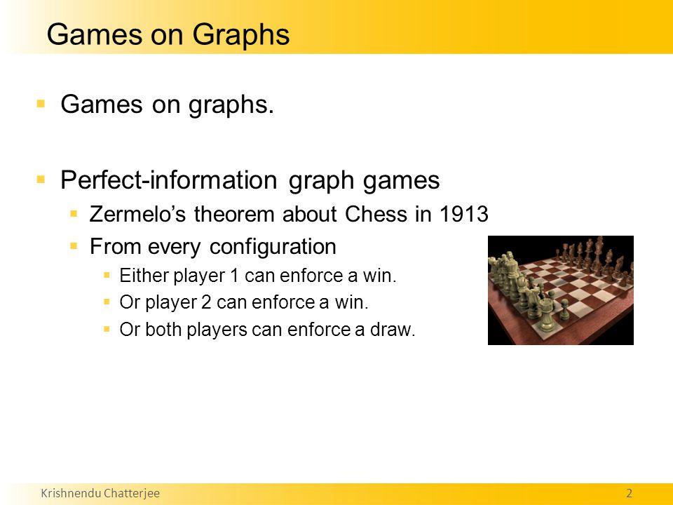 Krishnendu Chatterjee2 Games on Graphs  Games on graphs.