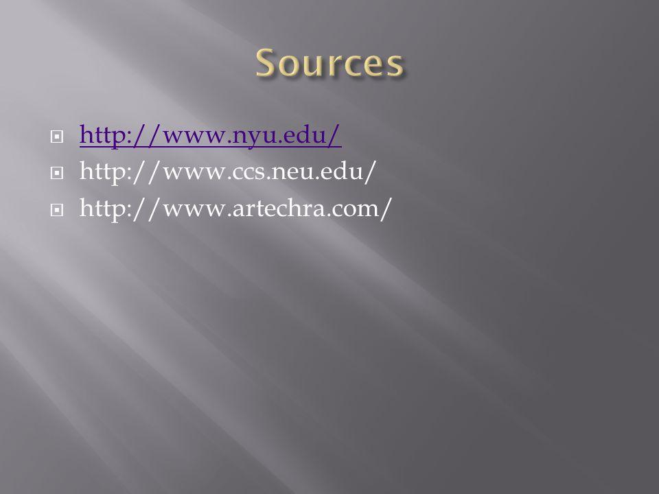  http://www.nyu.edu/ http://www.nyu.edu/  http://www.ccs.neu.edu/  http://www.artechra.com/