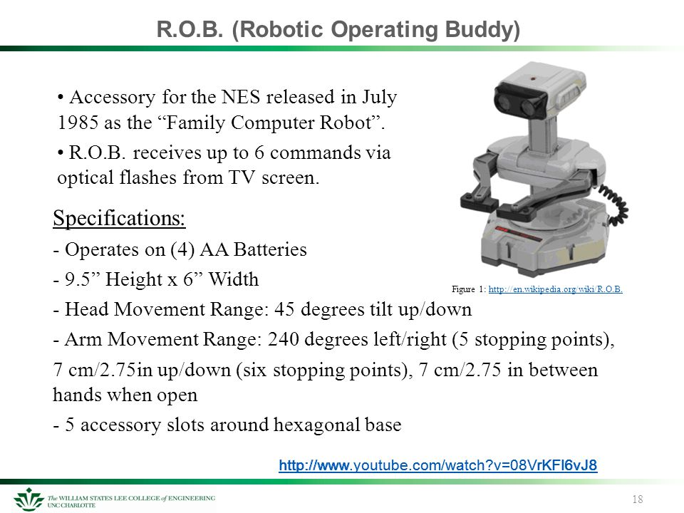 """R.O.B. (Robotic Operating Buddy) Accessory for the NES released in July 1985 as the """"Family Computer Robot"""". R.O.B. receives up to 6 commands via opti"""