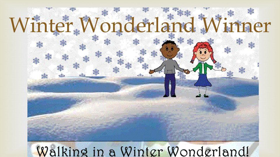  Winter Wonderland Winner