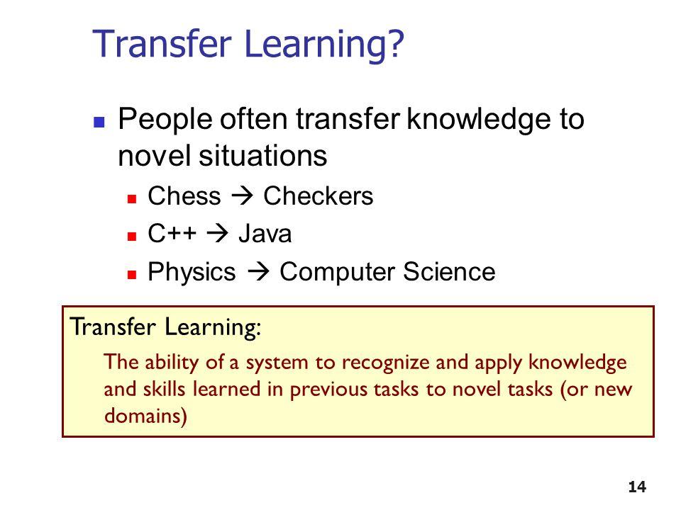 Transfer Learning.
