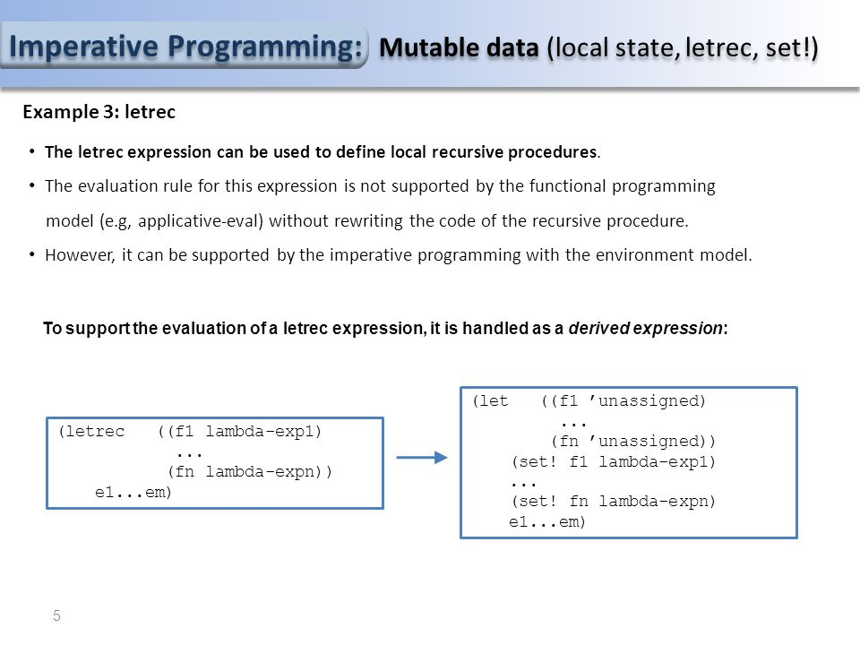 Imperative Programming Evaluator: Adding while expressions 3.