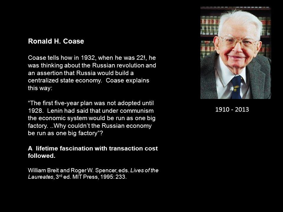 1910 - 2013 Ronald H.
