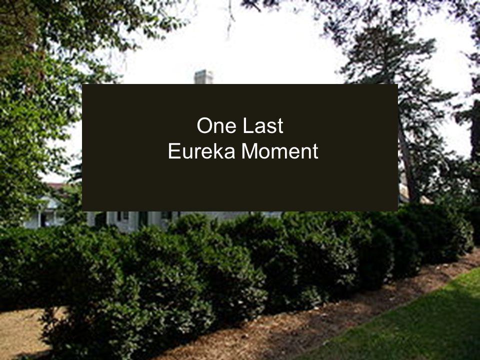 One Last Eureka Moment
