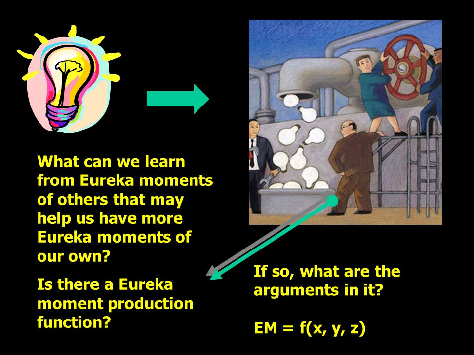 What can we learn from Eureka moments of others that may help us have more Eureka moments of our own.