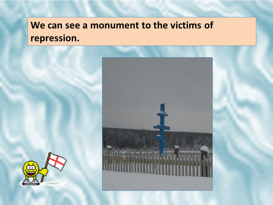 We can see a monument to the victims of repression.