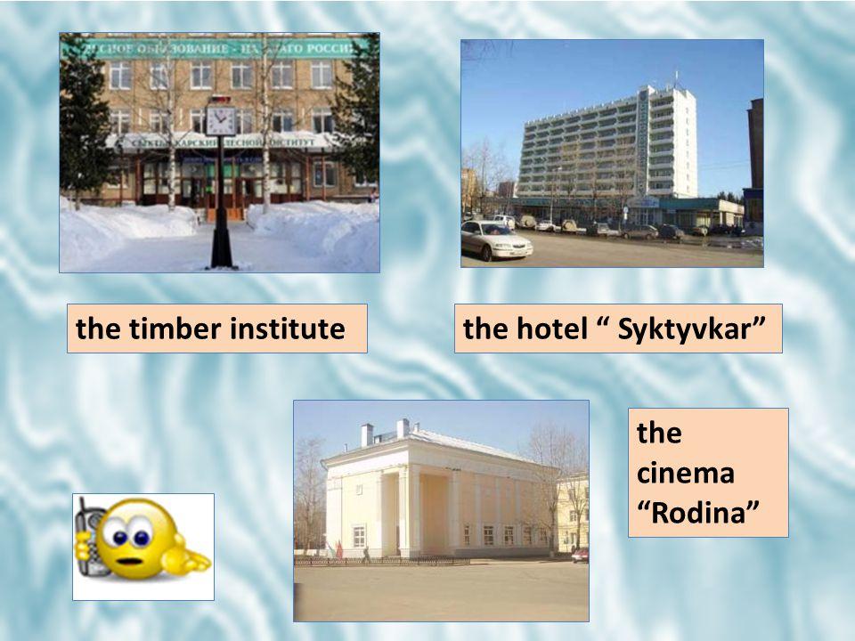 the timber institutethe hotel Syktyvkar the cinema Rodina