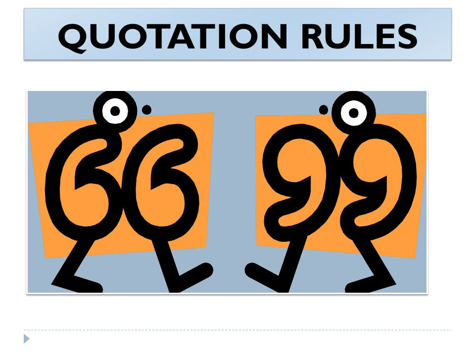 QUOTATION RULES