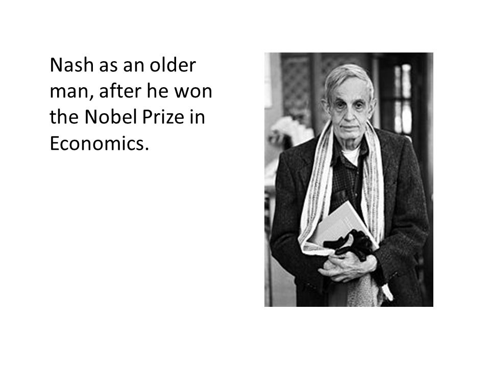 Nash as an older man, after he won the Nobel Prize in Economics.