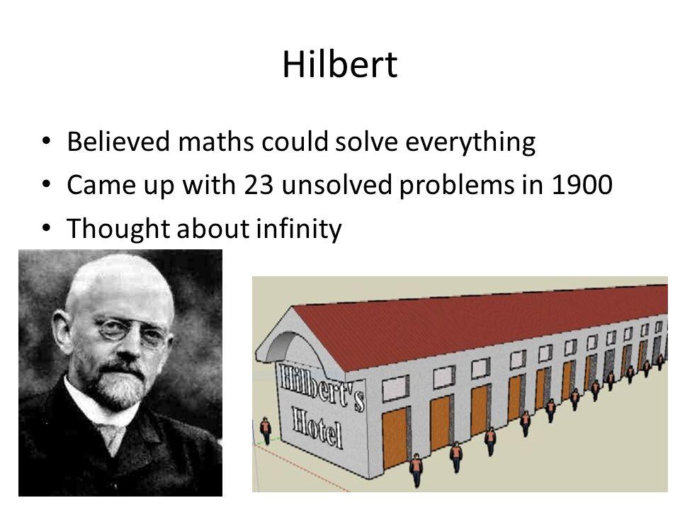 Hilbert 1930: Wir müssen wissen. Wir werden wissen.