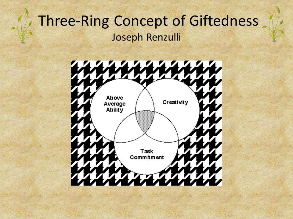 Three-Ring Concept of Giftedness Joseph Renzulli