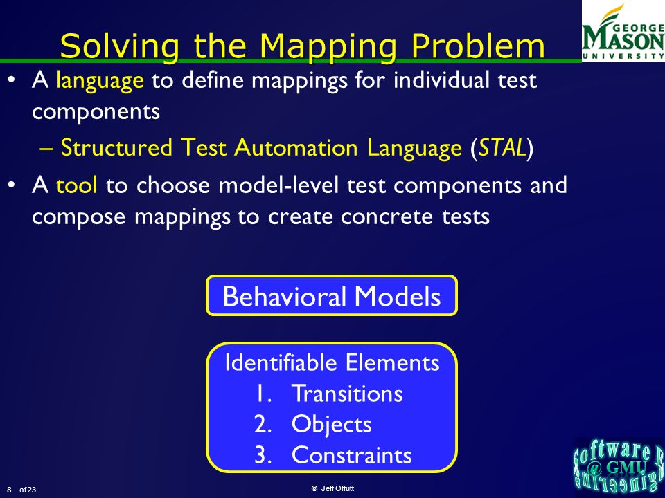 of 23 Empirical Evaluation of STALE © Jeff Offutt 9 Can STALE help programmers efficiently design tests .
