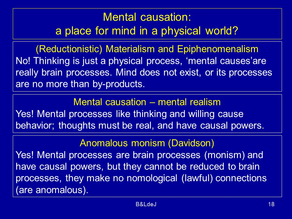 B&LdeJ18 Mental causation – mental realism Yes.