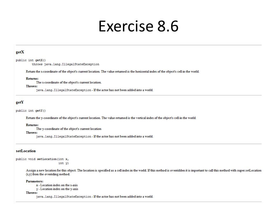 Exercise 8.6