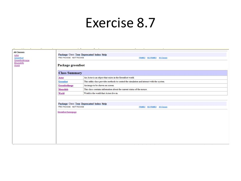 Exercise 8.7