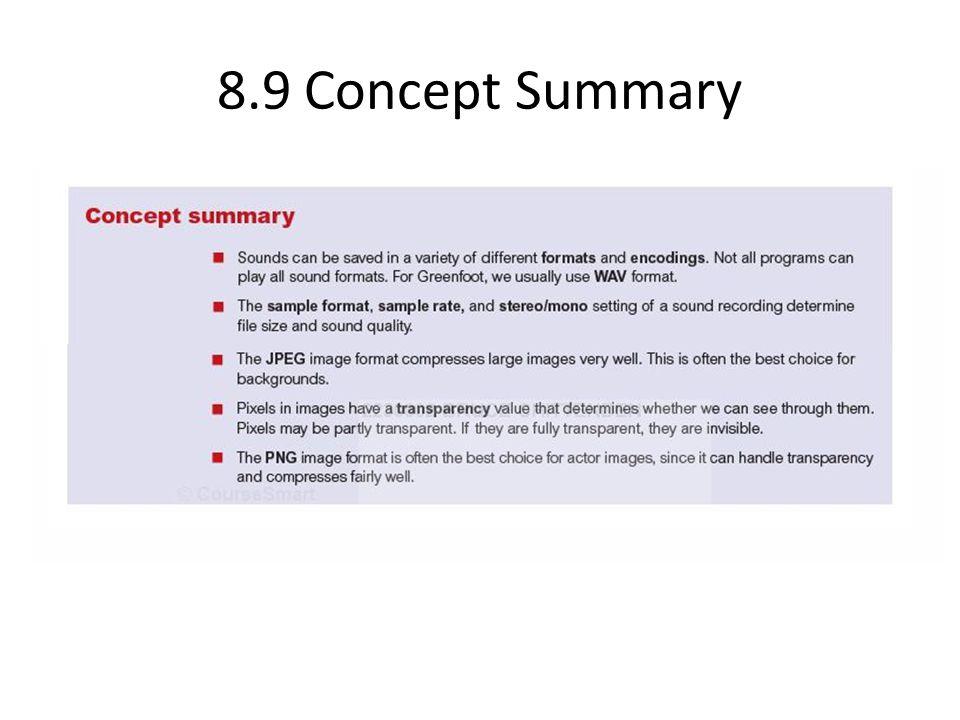 8.9 Concept Summary