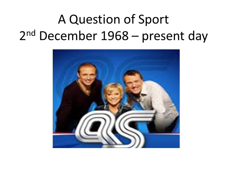 Question of Sport 25 pts per competitor (Bonus 25 pts for sport) Number 19Number 20