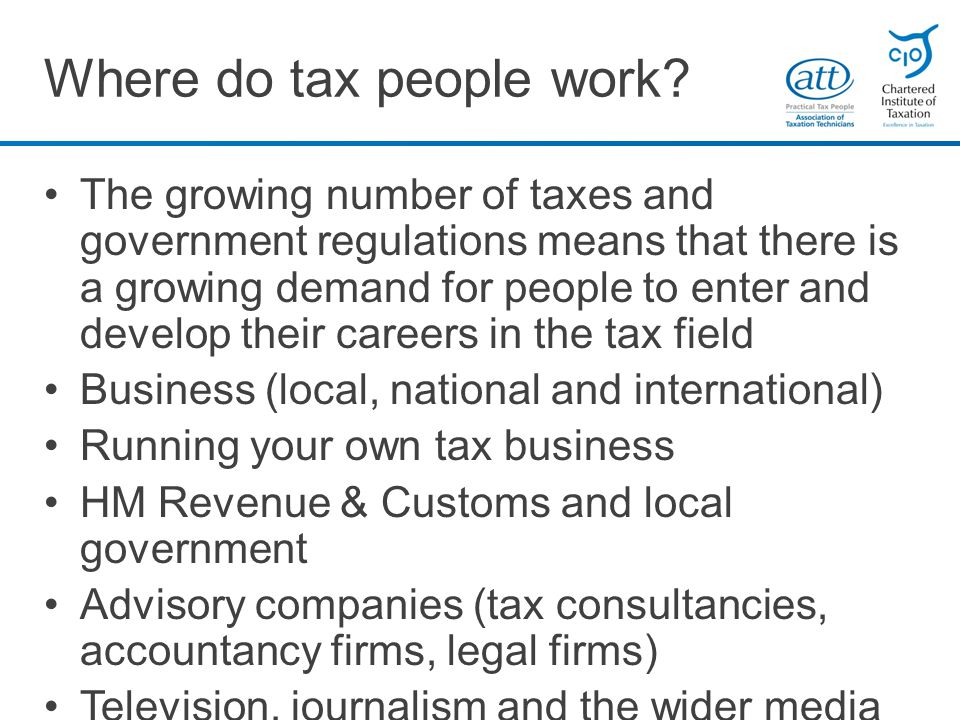 Where do tax people work.