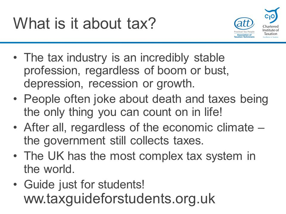 What is it about tax.