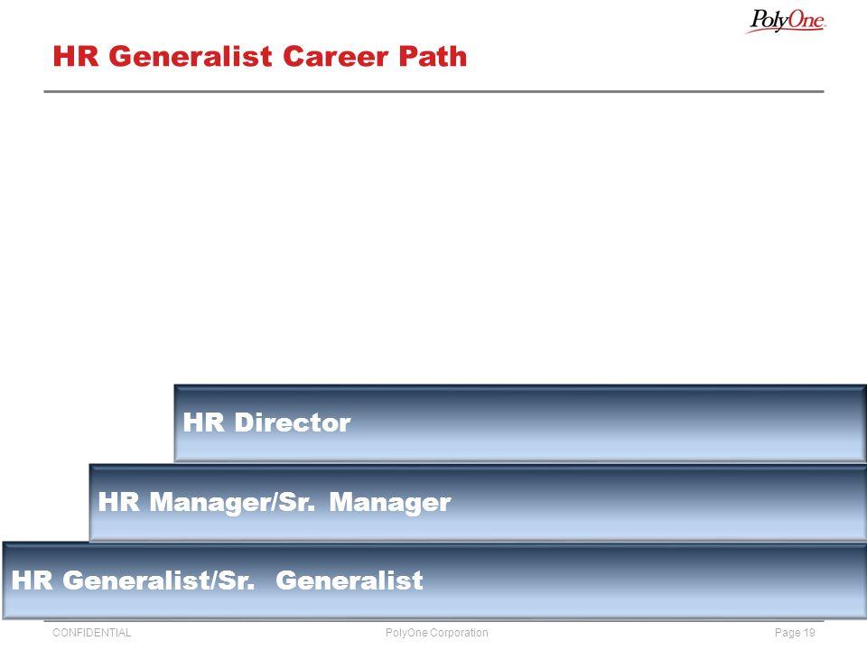 CONFIDENTIALPage 19PolyOne Corporation HR Generalist Career Path HR Generalist/Sr.