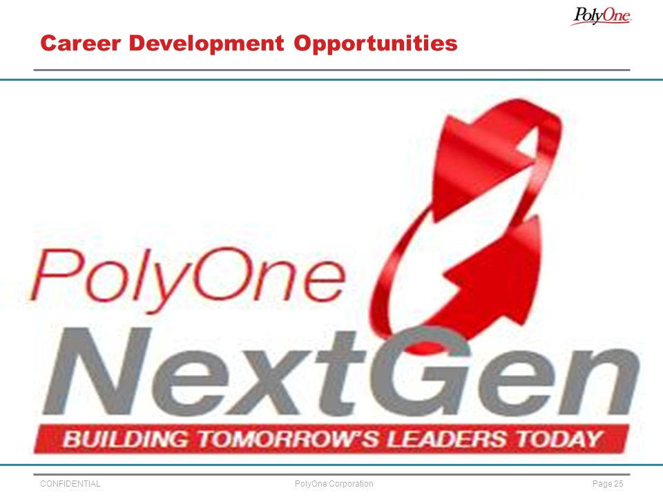 CONFIDENTIALPage 25PolyOne Corporation Career Development Opportunities