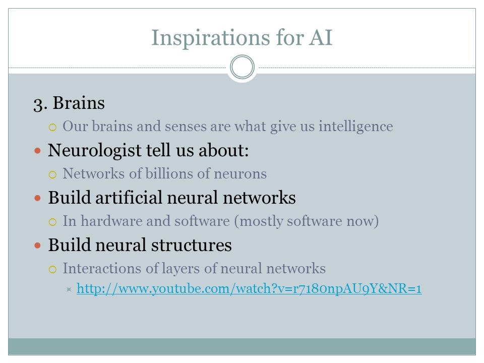 Inspirations for AI 3.