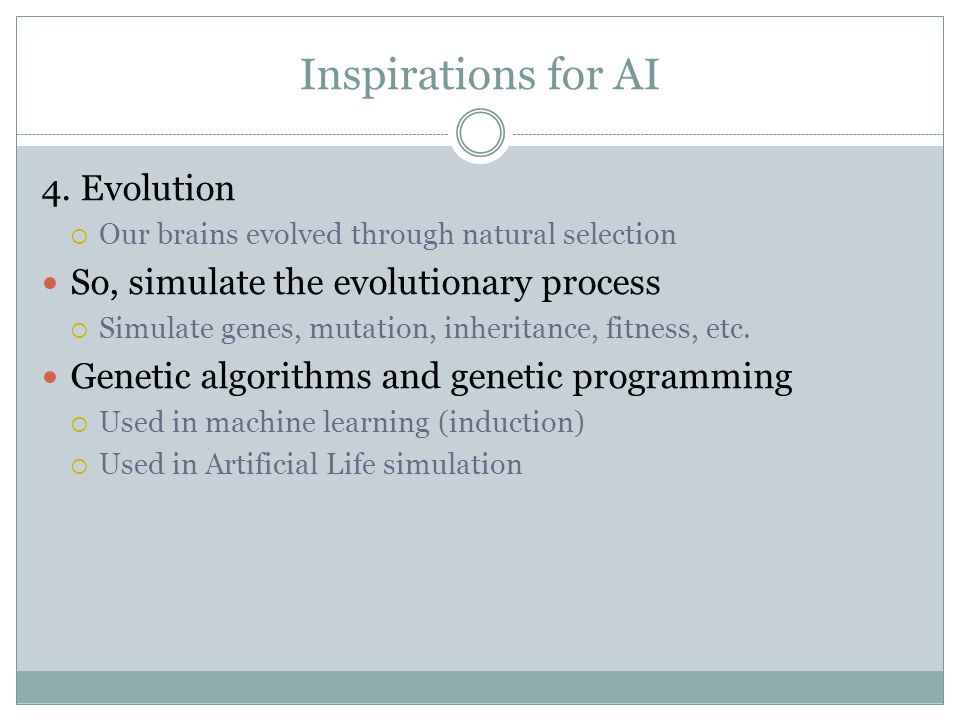 Inspirations for AI 4.