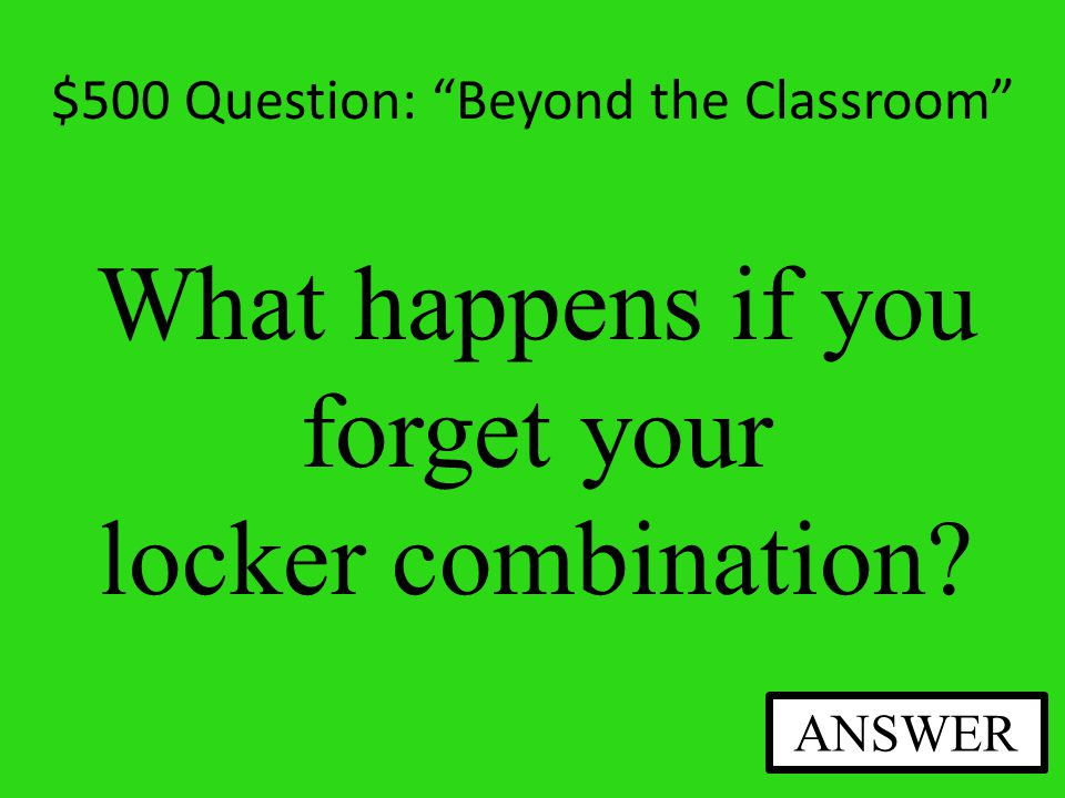$400 Answer: Beyond the Classroom No, You will have PE every other day at Jefferson.