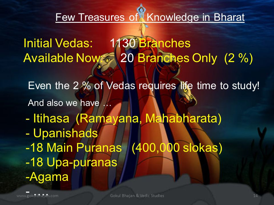 www.gokulbhajan.com Gokul Bhajan & Vedic Studies 13 History says: Arabia and many countries were part of Bharat during Vikramaditya Discovery of ancient Hindu deities in Middle East and other places is not un-common.