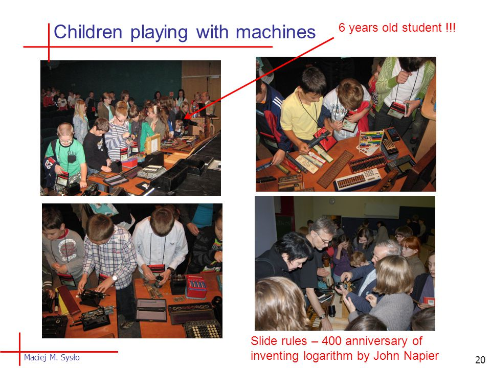 Children playing with machines 6 years old student !!.