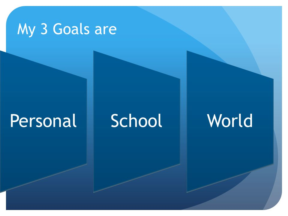 My 3 Goals are PersonalSchoolWorld
