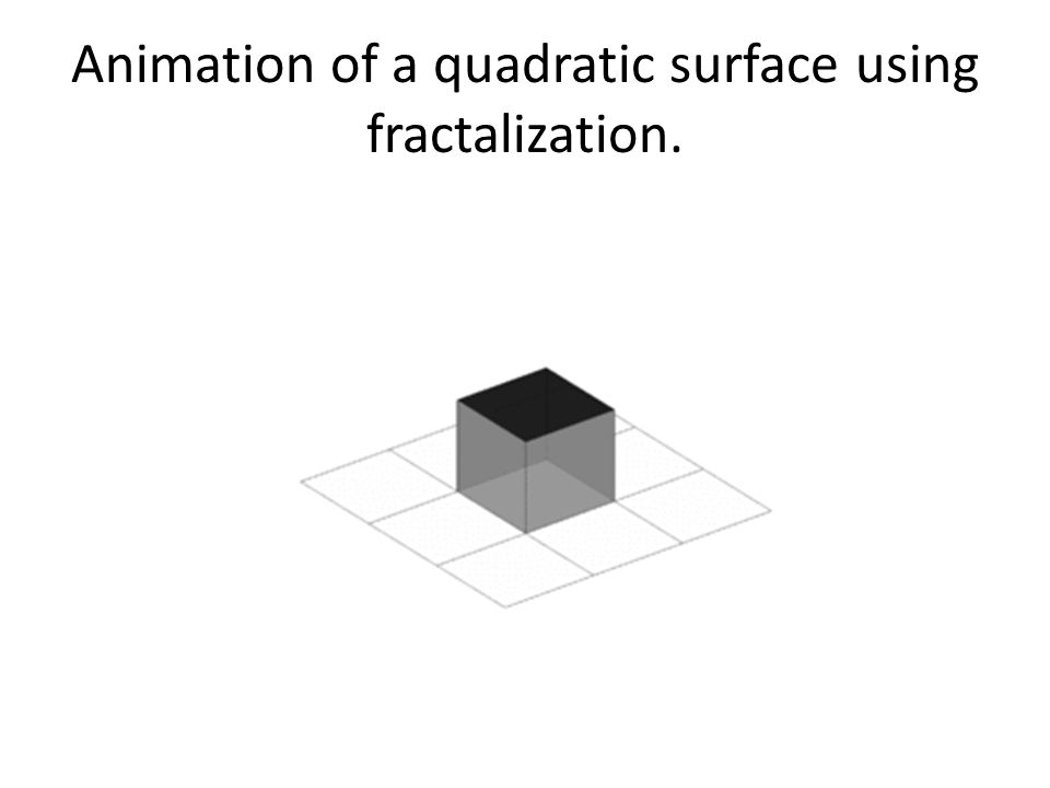 Animation of a quadratic surface using fractalization.