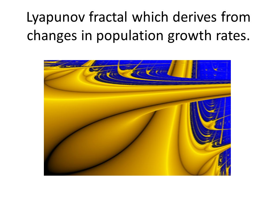 Lyapunov fractal which derives from changes in population growth rates.