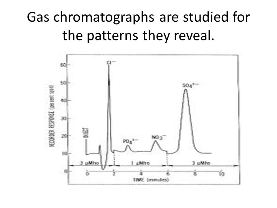 Gas chromatographs are studied for the patterns they reveal.