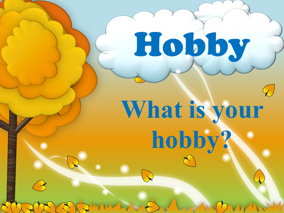 Hobby What is your hobby